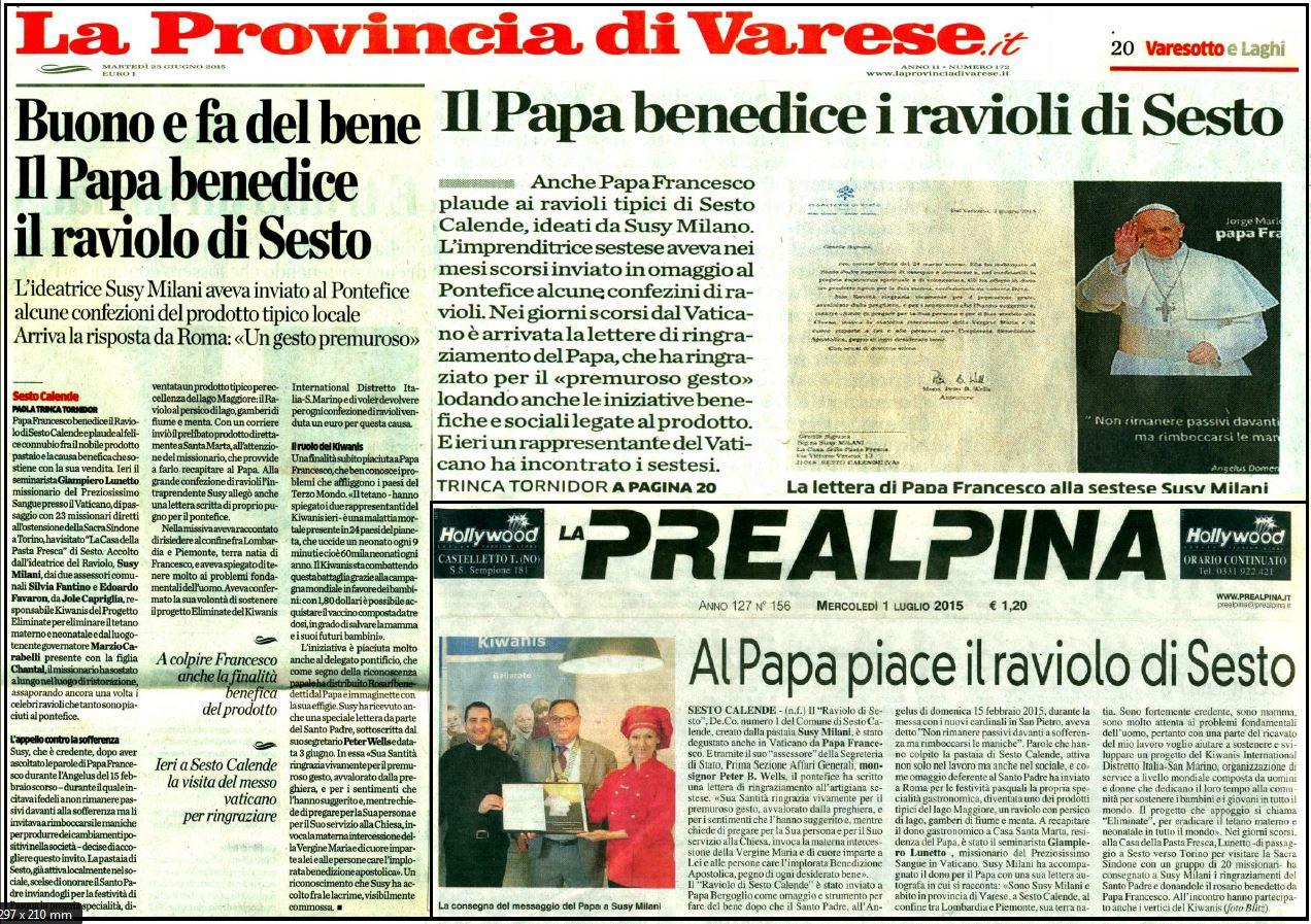 Papa Francesco e il Raviolo di Sesto Calende